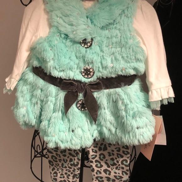 Little Lass 3 piece outfit 3-6 mos